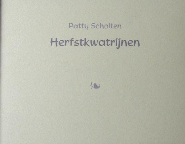 Scholten, Patty. Herfstkwatrijnen.