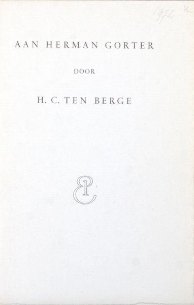 Berge, H.C. ten. Aan Herman.