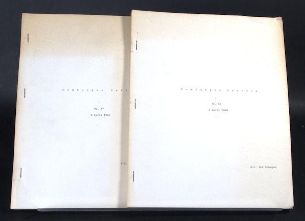 Schagen, J.C. van. Domburgse Cahiers Xa + Xb.