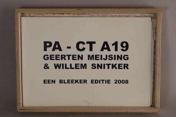 Meijsing, Geerten & Willem Snitker. Pa-Ct A19.