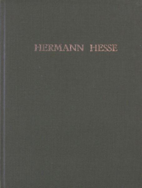 Hesse, Hermann. Einundzwanzig gedichte.
