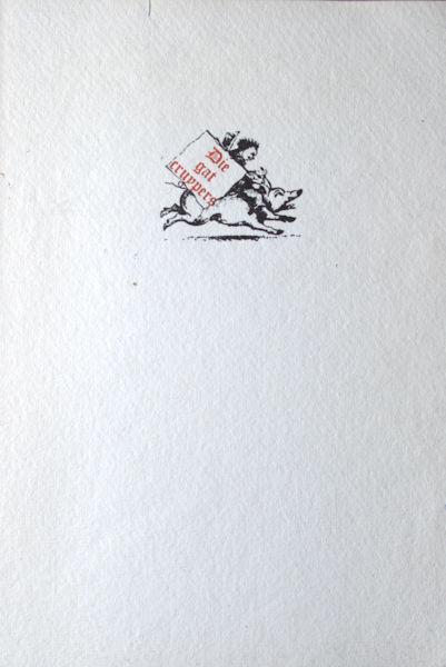 Bry, Io. Theod. de. Nates hiantes - Die gat cruypers (omslagtitel).