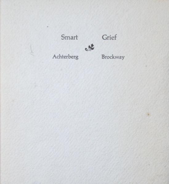 Achterberg -  Gerrit & James Brockway (vertaling). Smart - Grief.