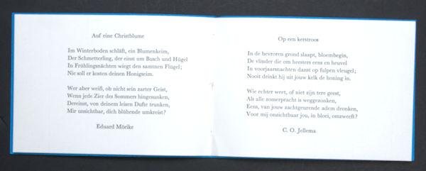 Mörike, Eduard (C.O. Jellema, vert.). Auf eine Christblume.