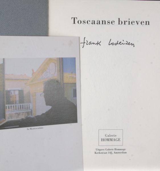 Lodeizen, Frank. Toscaanse brieven.