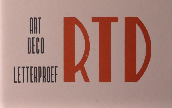 Art deco letterproef