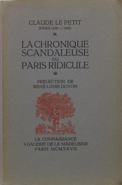 Le Petit, Claude. La chronique scandaleuse