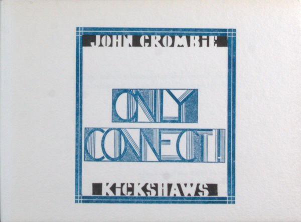 Crombie, John. Only connect!