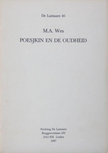 Wes, M.A. Poesjkin en de oudheid.