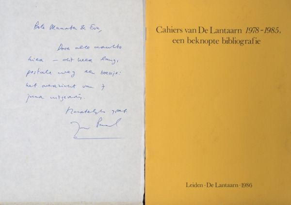 (Hinrichs, Jan Paul). Cahiers van De Lantaarn 1978-1985