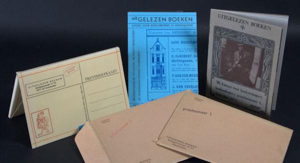 Vat, Joachim & Hubertus Jacobus Goldstein (opstellers). Uitgelezen boeken. Katern voor boekverkopers en boekenkopers. Proefnummer 1, 2 & 3.