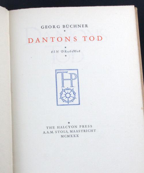 Büchner, Georg. Dantons Tod. Ein Drama.