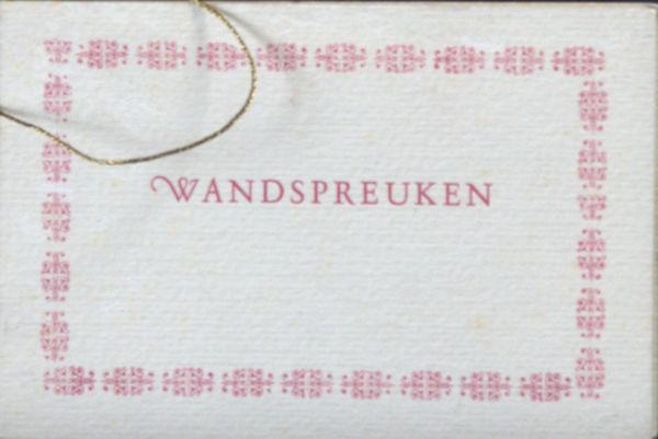 Alberdingk Thijm,  J.A. Wandspreuken voor de restauraties en drankwinkels der Fancy Fair van de Vakantie Kolonies.