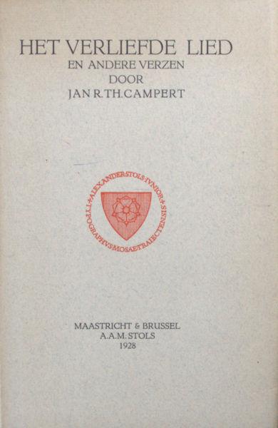 Campert, Jan. Het verliefde lied en andere verzen.