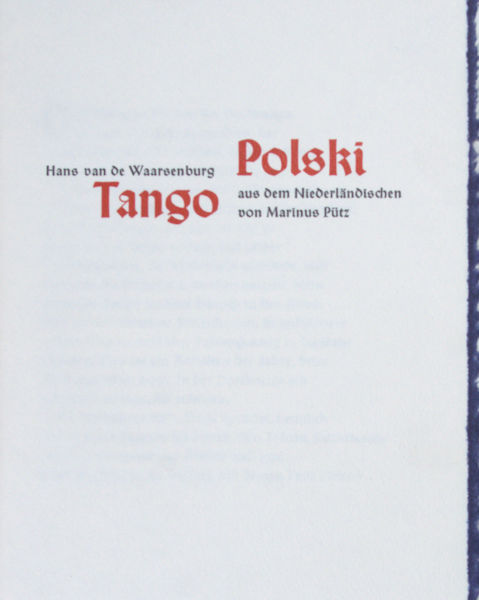Waarsenburg, Hans van de. Tango Polski.