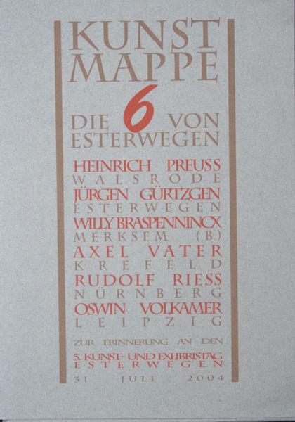 Preuss, Heinrich e.a. Kunstmappe. Die 6 von Esterwegen.