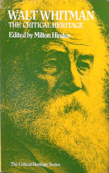 Whitman - Hindus, Milton (ed.). Walt Whitman.