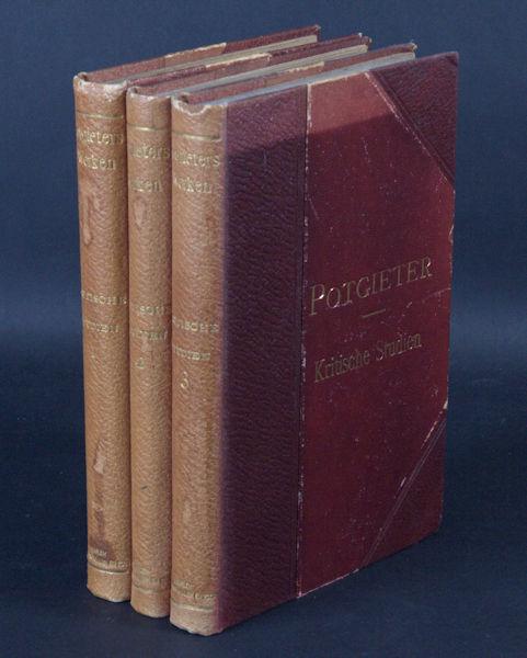 Potgieter, E.J. Kritische Studien.