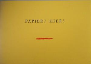 Papier hier